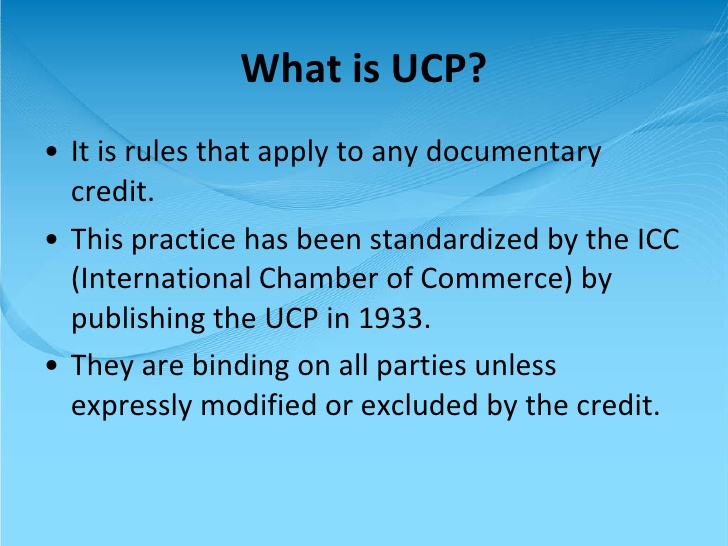 What is UCP?